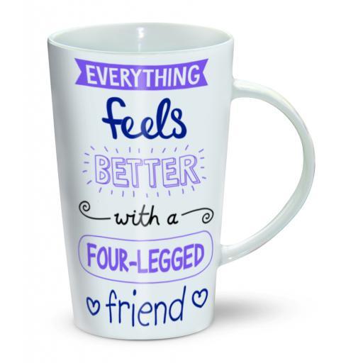 Latte Mug - Four-Legged Friend