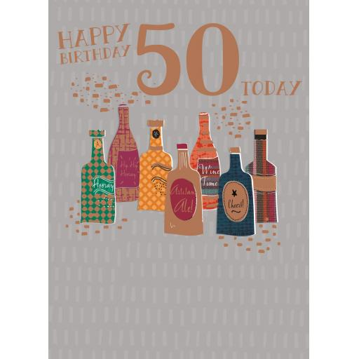 Age To Celebrate Card - 50 Birthday Beers