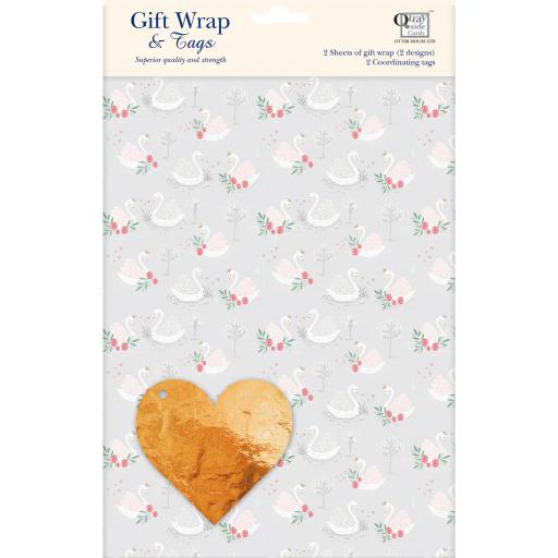 Gift Wrap & Tags - Swans