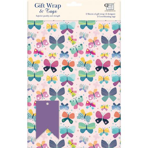 Gift Wrap & Tags - Butterfly & Pattern