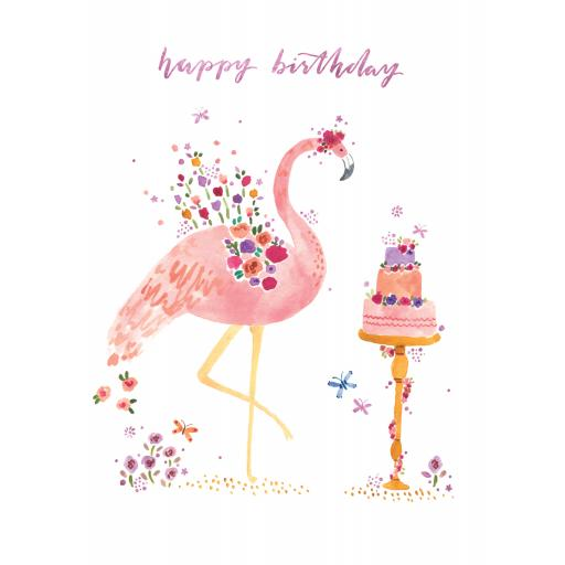 Marie Curie Happy Days Card Collection - Flamingo