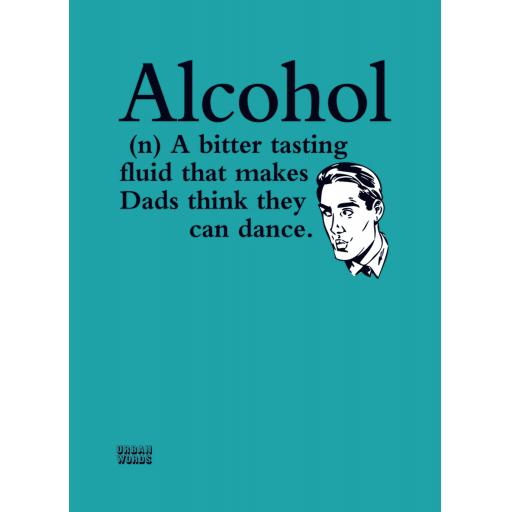 Urban Words Card Collection - Alcohol Dancing