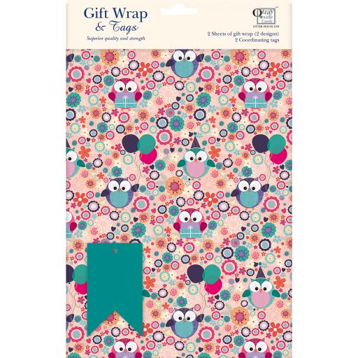 Gift Wrap & Tags - Birthday Hoots