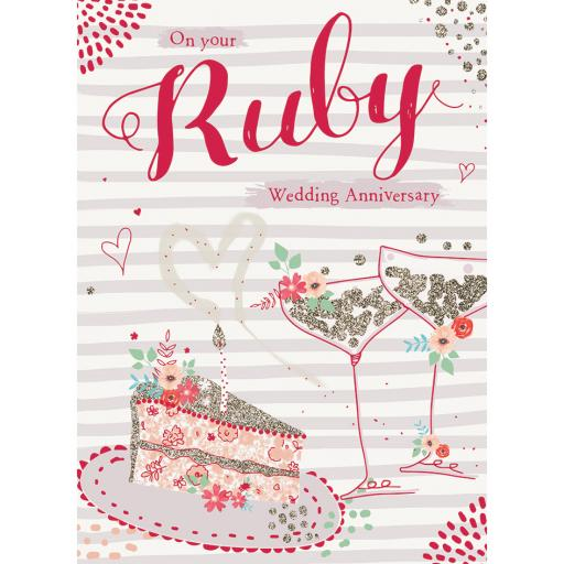 Anniversary Card - Cake & Fizz (Your)