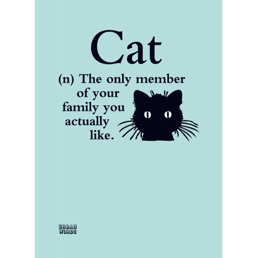 Urban Words Card Collection - Cat
