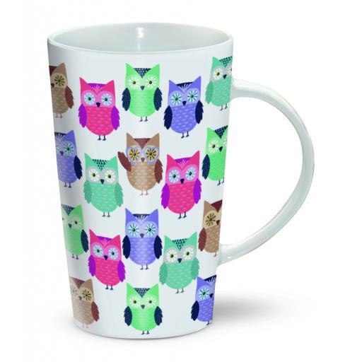 Latte Mug - Having A Hoot!