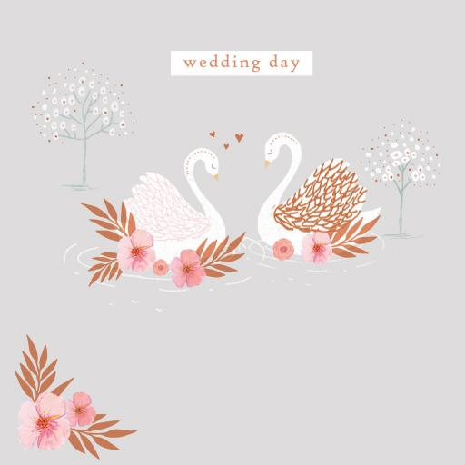 Wedding Card - Swans