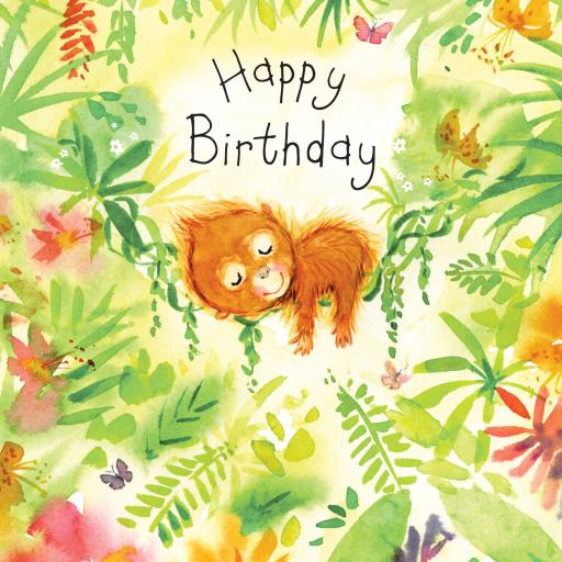 Fizzle Pop Card Collection - Happy Birthday Orangutan