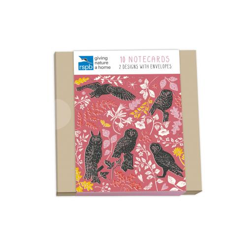 RSPB Natures Print - Notecard Pack (10 Cards) - Wildlife Patterns
