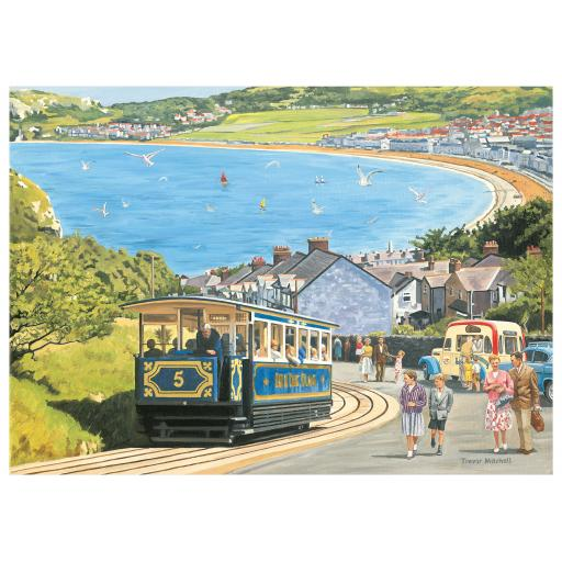 Rectangular Jigsaw - Seaside Tram