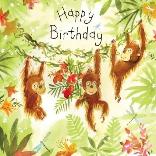 Fizzle Pop Card Collection - Happy Birthday Monkey