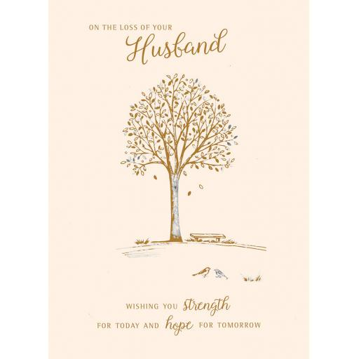 Sympathy Card - Tree (Husband)