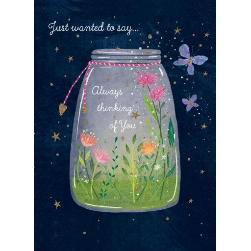 Thinking Of You Card - Flower Jar
