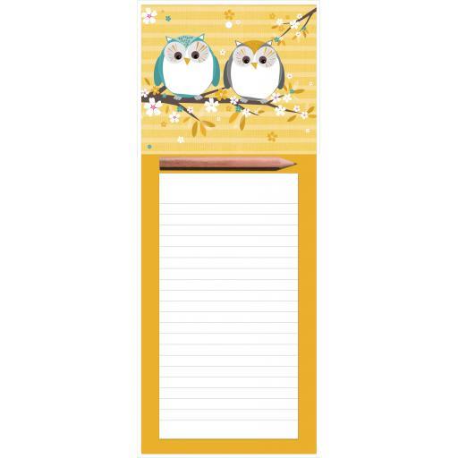 Magnetic Memo Pad - Pair Of Owls