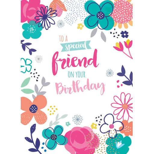 Family Circle Card - Floral (Friend)