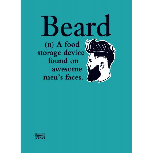 Urban Words Card Collection - Beard