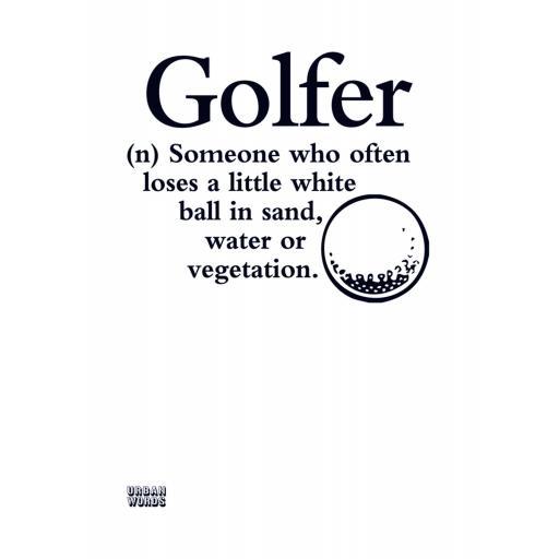 Urban Words Card Collection - Golfer
