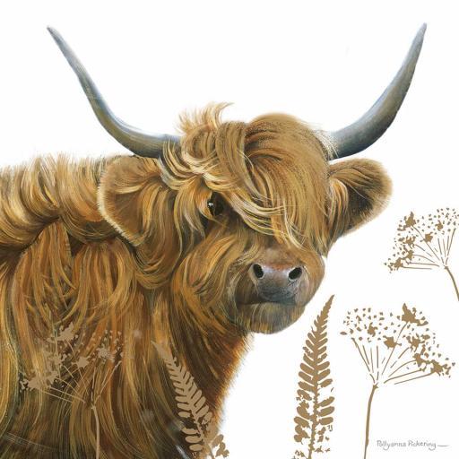 Pollyanna Pickering Countryside Collection Card - Highland Cow