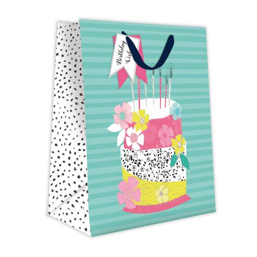 Gift Bag (Medium) - Birthday Wishes Cake
