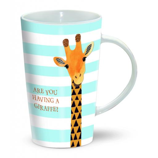 Latte Mug - Having A Giraffe!