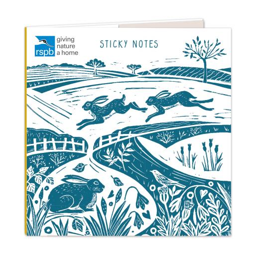 RSPB Natures Print - Sticky Notes - Leaping Hares
