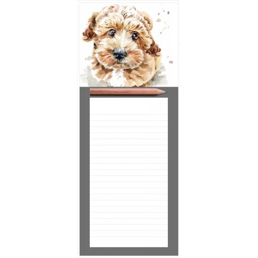 Magnetic Memo Pad - Cockapoo Puppy
