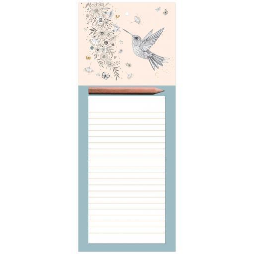 Magnetic Memo Pad - Hummingbird