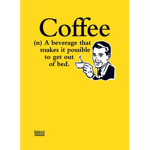 Urban Words Card Collection - Coffee