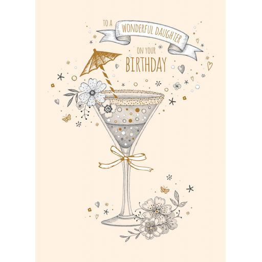 Family Circle Card - Birthday Cocktail (Daughter)