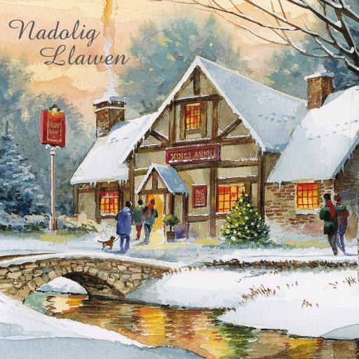 Welsh Christmas Cards (Large) - Walk To The Pub