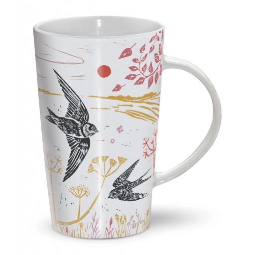 Latte Mug - Swallows