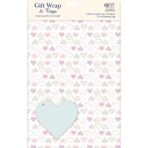 Gift Wrap & Tags - Hearts