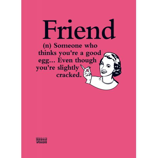 Urban Words Card Collection - Friends Cracked