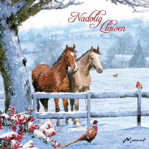 Welsh Christmas Cards (Small) - Snowy Scene