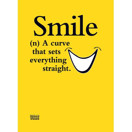 Urban Words Card Collection - Smile