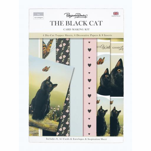 Card Making Kit - The Black Cat
