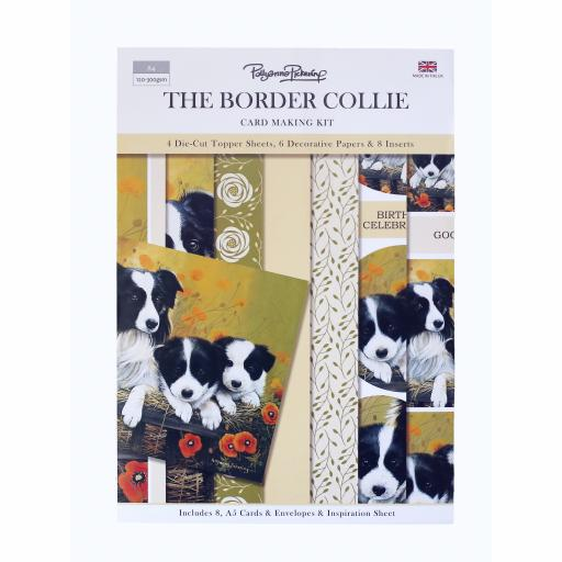 Card Making Kit - The Border Collie Family