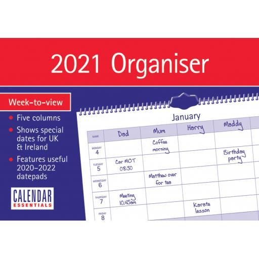 Essential Family Organiser A4 2021