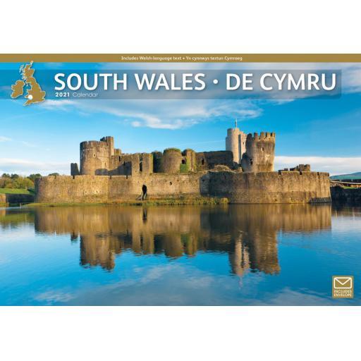 South Wales 2021 A4 Calendar