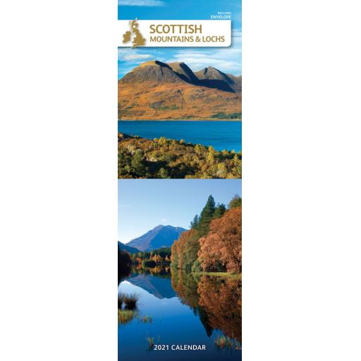 Scottish Mountains & Lochs 2021 Slim Calendar