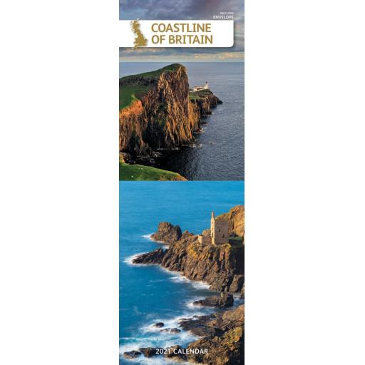 Coastline of Britain 2021 Slim Calendar