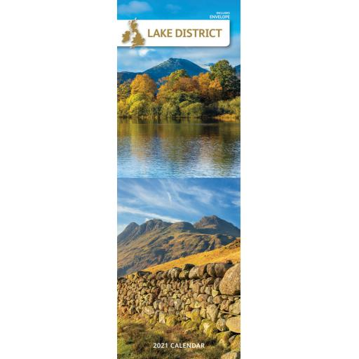 Lake District 2021 Slim Calendar