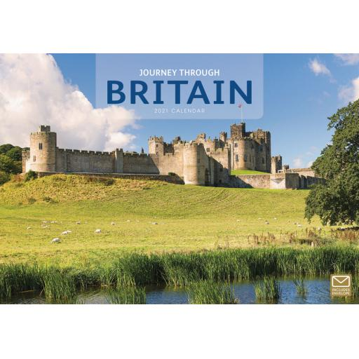 Journey Through Britain 2021 A4 Calendar