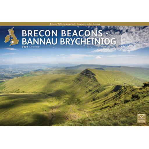 Brecon Beacons 2021 A4 Calendar