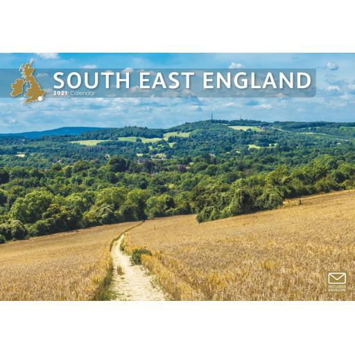 South East England 2021 A4 Calendar