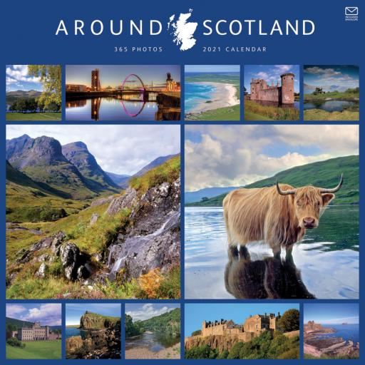 Around Scotland W 2021 12x12 Calendar