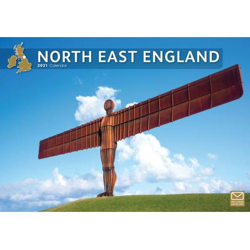 North East England 2021 A4 Calendar