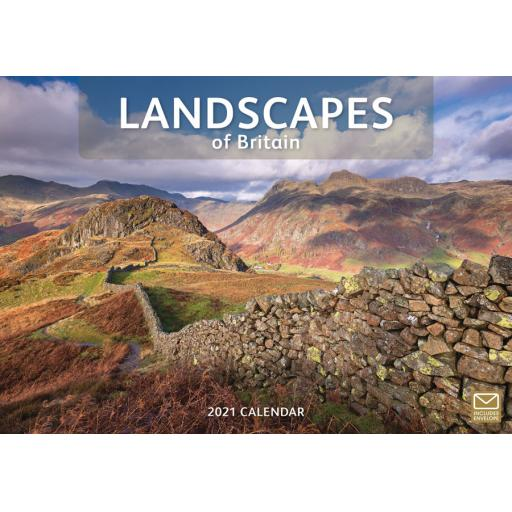 Landscapes of Britain 2021 A4 Calendar