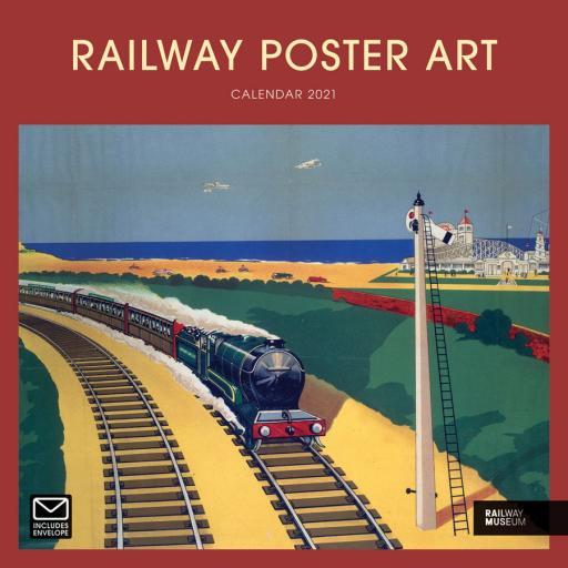 Railway Poster Art NRM W 2021 12x12 Calendar