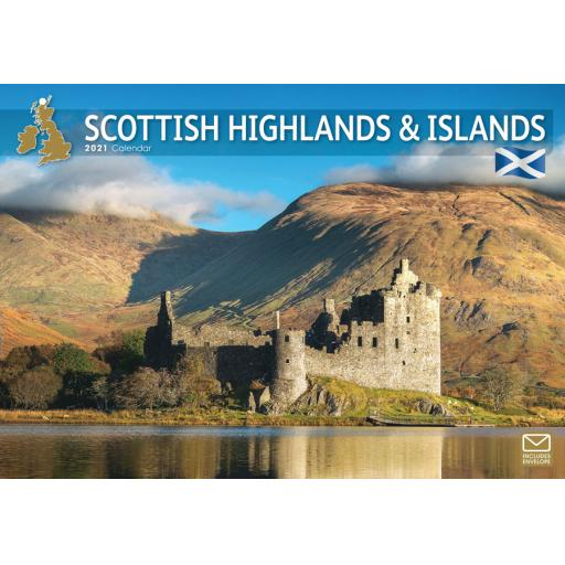 Scottish Highlands & Islands 2021 A4 Calendar